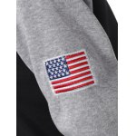 Raglan Sleeve Flag Embroidered Hoodie photo