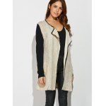 cheap Two Tone Loose Cardigan