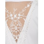 best Lace Insert Asymmetrical Blouse