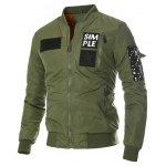 Multi Pocket Patch Zippered Quilted Jacket