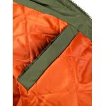 Multi Pocket Patch Zippered Quilted Jacket deal