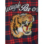 Plaid Tiger Embroidered Shirt for sale