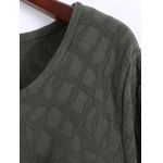 Plus Size Textured Long Sleeve High Low Dress deal