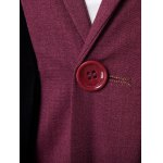 Velvet Splicing Design One Button Blazer deal