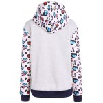 cheap Hooded Leopard Print Sweatshirt