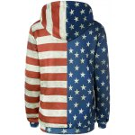 cheap Front Pocket American Flag Print Outerwear Hoodie