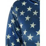 Front Pocket American Flag Print Outerwear Hoodie deal