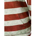 Front Pocket American Flag Print Outerwear Hoodie for sale