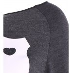 Skew Neck Love Print Sweatshirt deal