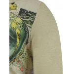 Plus Size Long Sleeve Dragon in the Sky Print T-Shirt for sale