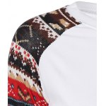 Christmas Print Sleeve Pullover Sweatshirt for sale