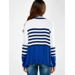 Ruffles Splicing Striped Cardigan for sale
