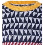 Geometric Jacquard Pullover Sweater deal