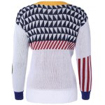 cheap Geometric Jacquard Pullover Sweater
