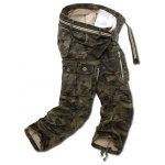 cheap Drawstring Zippered Camo Army Cargo Pants
