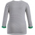cheap Cute Print Striped T-Shirt