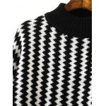 Dolman Sleeve Zigzag Jumper Sweater deal
