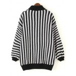 cheap Dolman Sleeve Zigzag Jumper Sweater