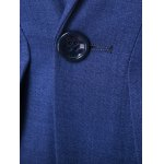 Slim Fit Single Button Lapel Spliced Blazer photo
