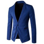 Slim Fit Single Button Lapel Spliced Blazer