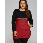 Plus Size Tunic Color Block Panel T-Shirt deal