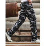 Multi Pockets Design Straight Camouflage Cargo Pants deal