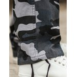 Multi Pockets Design Straight Camouflage Cargo Pants photo