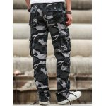 Multi Pockets Design Straight Camouflage Cargo Pants for sale
