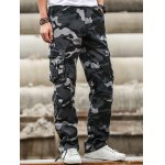 cheap Multi Pockets Design Straight Camouflage Cargo Pants