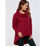 Cowl Neck High Low Hem Pullover deal