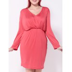 Ruched Fitted Sheath Dress