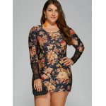 Plus Size Floral Print Mini Dress deal