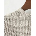Collarless Double Pockets Knitted Cardigan deal