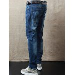 Zipper Fly Mid Waist Scrawl Printed Jeans deal