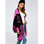 cheap Loose Tassels Jacquard Cape Cardigan