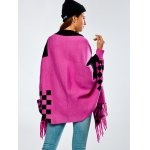Loose Tassels Jacquard Cape Cardigan deal