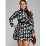 Plus Size Houndstooth Belted Dress deal