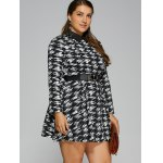 Plus Size Houndstooth Belted Dress for sale