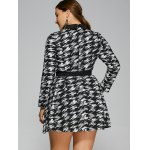 best Plus Size Houndstooth Belted Dress