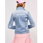 best Double Button Pockets Denim Jacket