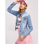 Double Button Pockets Denim Jacket for sale