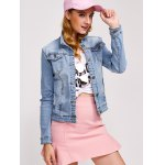 Double Button Pockets Denim Jacket deal