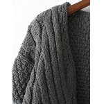 Denim Panel Cable Knit Cardigan deal