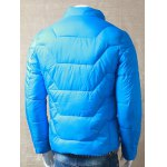 Textured Stand Collar Zipper Up Quilted Jacket for sale