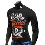 Crew Neck Long Sleeve Letter Printed Tee deal