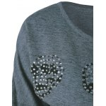 Rhinestoned Skull Pattern Sweatshirt deal