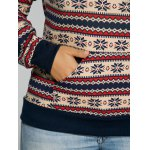 best Active Christmas Snowflake Print Sweatshirt