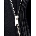 Zip Up Wool Blend Hooded Coat for sale