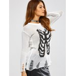 Halloween Frayed Bone Pattern Knitwear deal