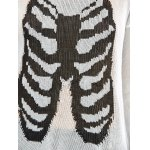 best Halloween Frayed Bone Pattern Knitwear
